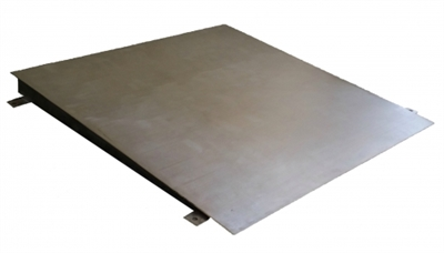 4' x 4' Stainless Steel Floor Scale Ramp