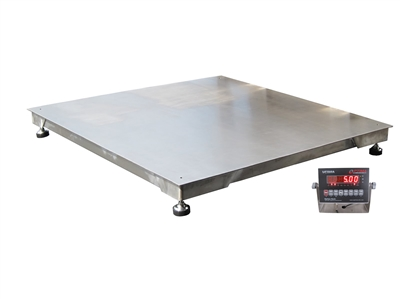 5,000 lb 4 x 4 Stainless Steel Floor scale