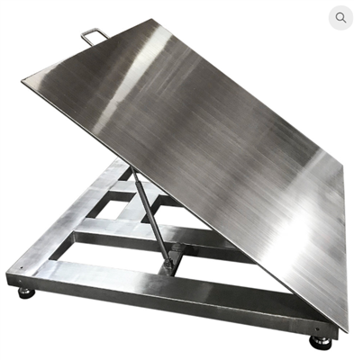 Lift top stainless steel floor scale