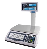 CAS 60 LB Portable LCD Price Computing Scale with Pole Display - Legal for Trade