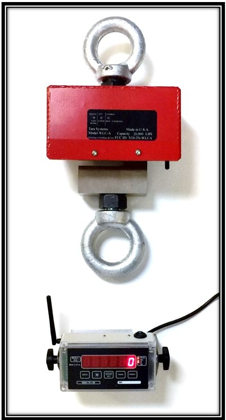 Wireless 10 000 lbs x 1 lb crane scale with indicator for 10000 lb floor scale