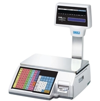 60 lb label printing scale with pole display
