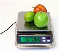 15lb x 0.0005lb - WASHDOWN DIGITAL SCALE - PERFECT FOR FOOD AND CHEMICAL INDUSTRIES