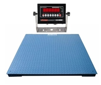30,000 lb x 2 lb - 7' x 7' Floor Scale with Indicator - NTEP