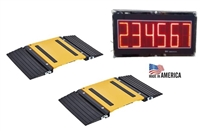 portable truck axle scale with large led display