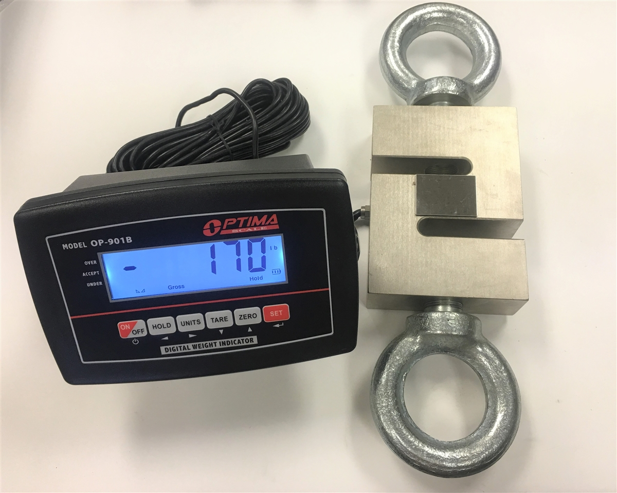 20 000 Lbs X 2 Lb Crane Scale S Type Load Cell With Lcd
